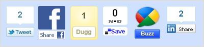 панель кнопок Digg Digg