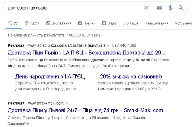 реклама у Google